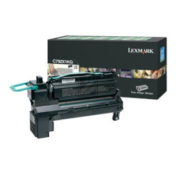 Lexmark Toner-Kartusche Prebate schwarz HC (C792X1KG)