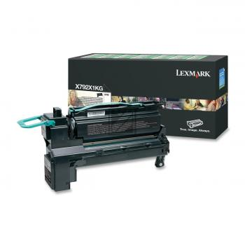 Lexmark Toner-Kartusche Prebate schwarz HC (X792X1KG)