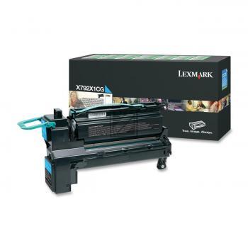 Lexmark Toner-Kartusche Prebate cyan HC (X792X1CG)