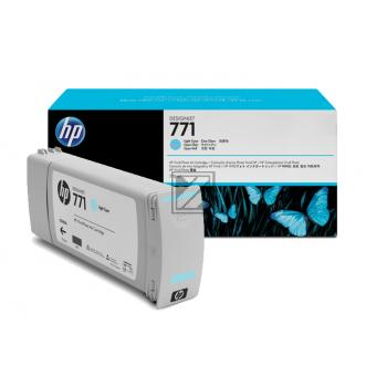 HP Tintenpatrone cyan light (CE042A, 771)
