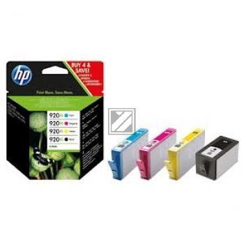 HP Tintenpatrone gelb cyan magenta schwarz HC (C2N92AE, 920XL)