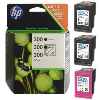 Tinte f. HP Deskjet D2560 [SD518A] Multipack Nr.300 (2xCC640E/CC643E) 2x black, 1x color