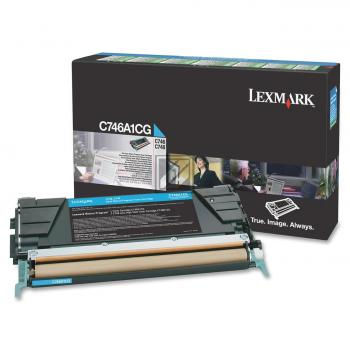 Lexmark Toner-Kartusche Return Program cyan (C746A1CG)