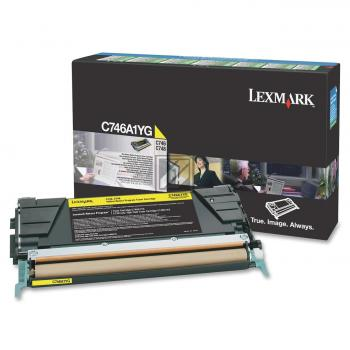 Lexmark Toner-Kartusche Return Program gelb (C746A1YG)