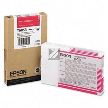 Epson Tintenpatrone magenta HC (C13T605300, T6053)
