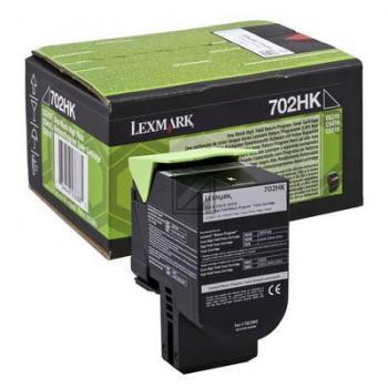 Lexmark Toner-Kit Return schwarz HC (70C2HK0, 702HK)