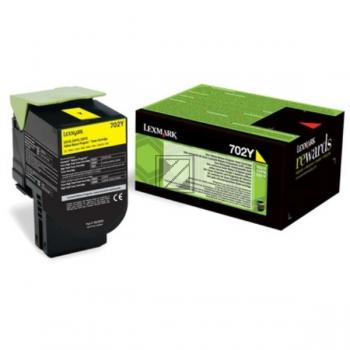 Lexmark Toner-Kit Return gelb (70C20Y0, 702Y)
