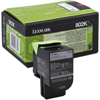 Lexmark Toner-Kit Return schwarz (80C20K0, 802K)