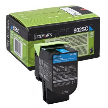 Lexmark Toner-Kit Return cyan HC (80C2SC0, 802SC)