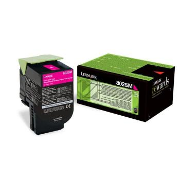 Lexmark Toner-Kit Return magenta HC (80C2SM0, 802SM)
