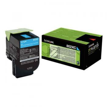 Lexmark Toner-Kit Return cyan HC plus + (80C2XC0, 802XC)
