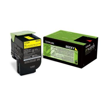 Lexmark Toner-Kit Return gelb HC plus + (80C2XY0, 802XY)