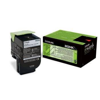 Lexmark Toner-Kit Return schwarz HC plus (80C2HK0, 802HK)