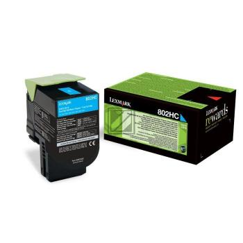 Lexmark Toner-Kit Return cyan HC plus (80C2HC0, 802HC)