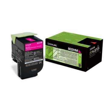 Lexmark Toner-Kit Return magenta HC plus (80C2HM0, 802HM)