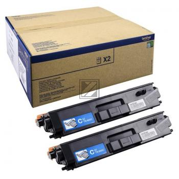 Brother Toner-Kit 2 x cyan 2-Pack (TN-900CTWIN)
