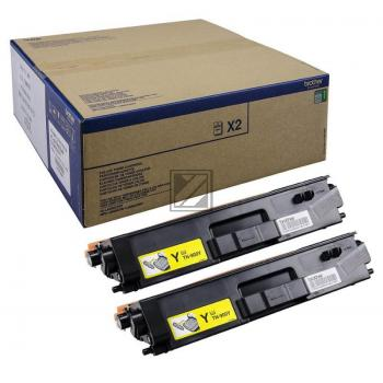 Brother Toner-Kit 2 x gelb 2-Pack (TN-900YTWIN)