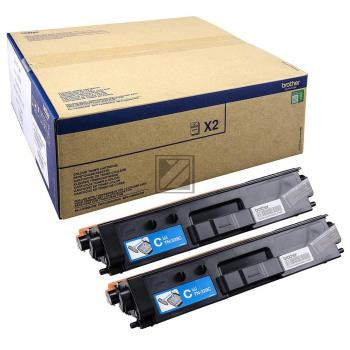 Brother Toner-Kartusche 2x cyan 2-er Pack (TN-329CTWIN)