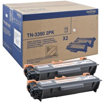 Brother Toner-Kartusche 2x schwarz 2-er Pack HC plus (TN-3390TWIN)