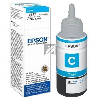 Epson Tintennachfüllfläschchen cyan (C13T664240, T6642)