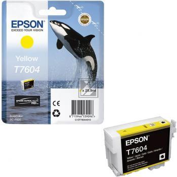 Epson Tintenpatrone gelb (C13T76044010, T7604)