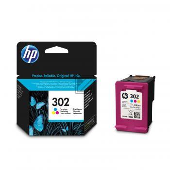 HP Tintendruckkopf cyan/gelb/magenta (F6U65AE, 302)
