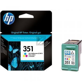 HP Tintendruckkopf cyan/gelb/magenta (CB337EE#UUS, 351)