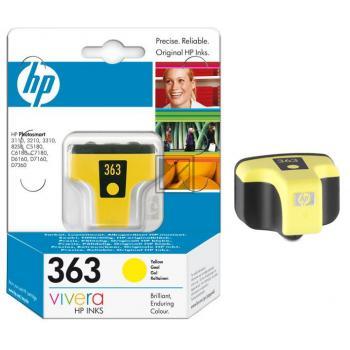 HP Tintenpatrone gelb (C8773EE, 363)