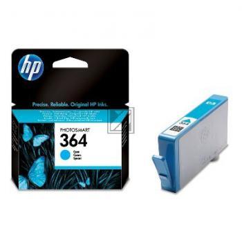 HP Tintenpatrone cyan (CB318EE#ABB, 364)