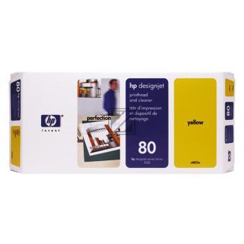 HP Tintendruckkopf Tintendruckkopf Reiniger gelb (C4823A, 80)