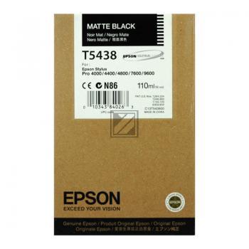 Epson Tintenpatrone Ultra Chrome schwarz matt (C13T543800, T5438)