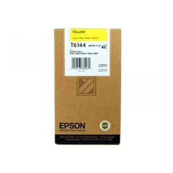 Epson Tintenpatrone gelb HC (C13T614400, T6144)