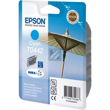 TINTENPATRONE - OEM Epson Stylus C64 / C66 / C84 / C86 / CX6400 cyan, 450 Seiten