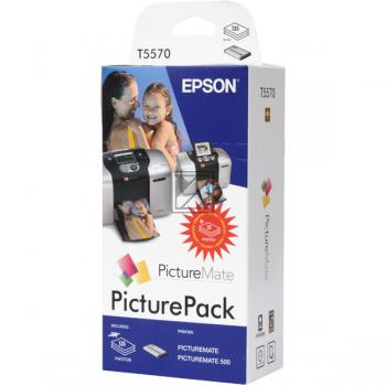 Epson Tintenpatrone Photo Glossy Paper 6-farbig (C13T557040BH, T5570)