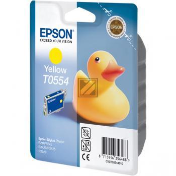 Epson Tintenpatrone gelb (C13T05544010, T0554)