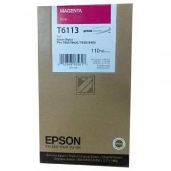 Epson Tintenpatrone magenta (C13T611300, T6113)
