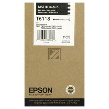 Epson Tintenpatrone Ultra Chrome K3 schwarz matt (C13T611800, T6118)