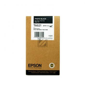 Epson Tintenpatrone Photo-Tinte Ultra Chrome K3 photo schwarz (C13T602100, T6021)