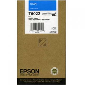 Epson Tintenpatrone Ultra Chrome K3 cyan (C13T602200, T6022)