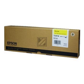 Epson Tintenpatrone Ultra Chrome gelb (C13T591400, T5914)