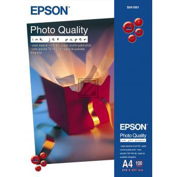 Epson Photo Quality Ink Jet Paper DIN A4 100 Seiten weiß 100 Blatt DIN A4 102 g/m² (C13S041061)