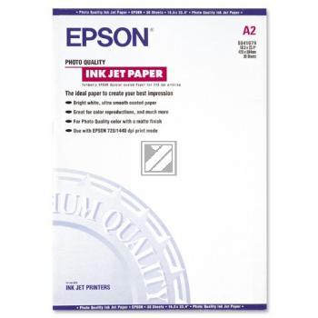 Epson Photo Quality Ink Jet Papier Inkjetpapier weiß DIN A2 (C13S041079)