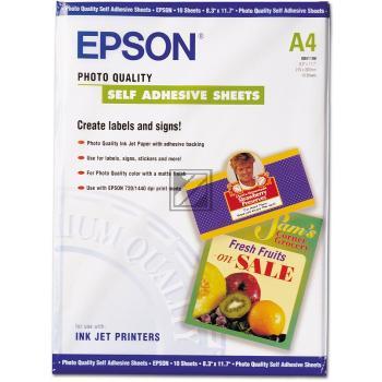 Epson Photo Quality Ink Jet Paper DIN A4 10 Seiten weiß 10 Blatt DIN A4 (C13S041106)