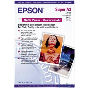Epson Matte Paper Heavy Weight DIN A3+ weiß 50 Seiten (C13S041264)