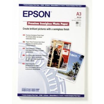 Epson Premium Semigloss Photo Paper DIN A3 weiß DIN A3 (C13S041334)
