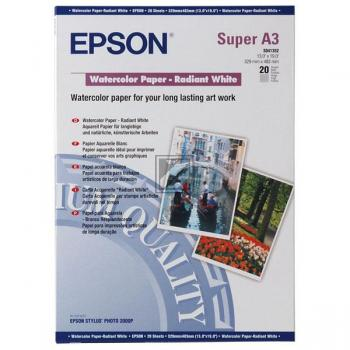 Epson Water Color Paper-Radiant White DIN A3+ weiß 20 Seiten (C13S041352)
