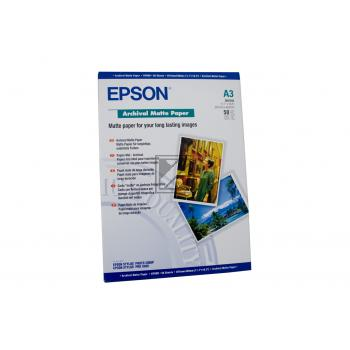 Epson Archival Matte Paper DIN A3 weiß 50 Seiten (C13S041344)