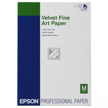 Epson Velvet Fine Art Papier DIN A3+ weiß 20 Seiten (C13S041637)