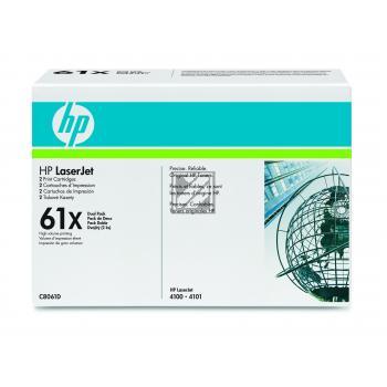 Toner f. HP LaserJet 4100 [C8061D] (2xC8061X) HC Nr.61X Twinp. black