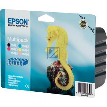 Epson Tintenpatrone gelb cyan cyan light magenta magenta light schwarz (C13T04874010, T0487)